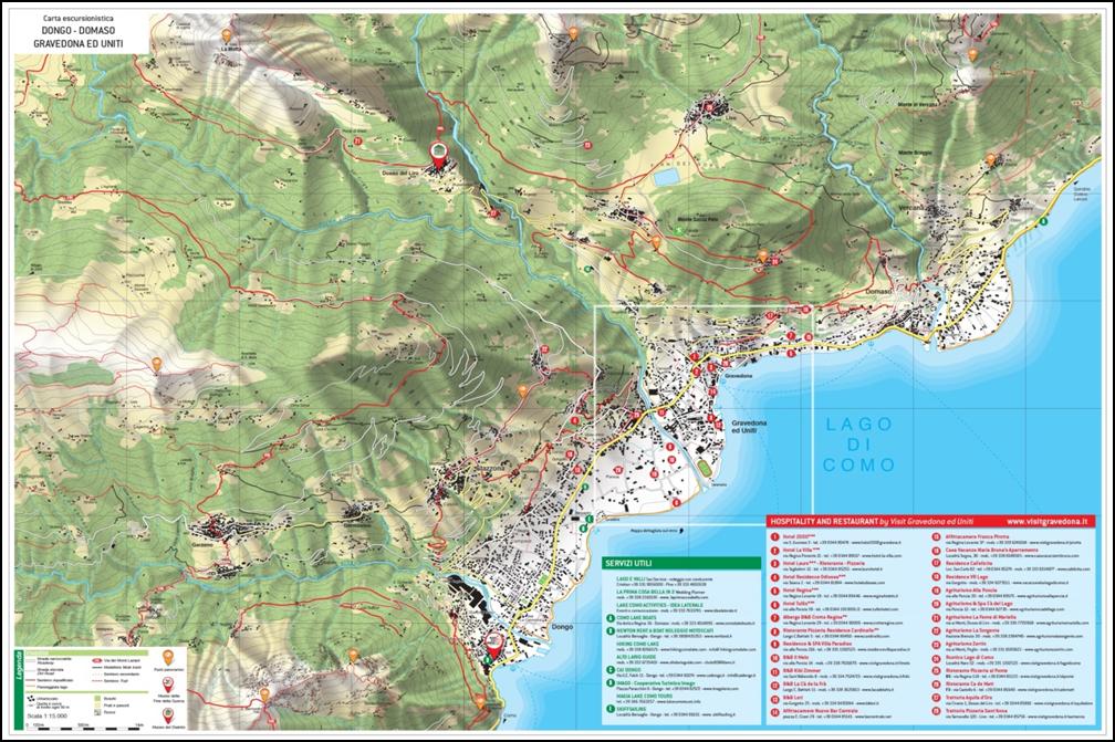 active holidays - Lake Como -map